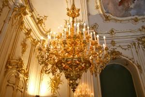 Chandelier in Schönbrunn Palace, Vienna